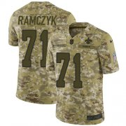 Wholesale Cheap Nike Saints #71 Ryan Ramczyk Camo Men's Stitched NFL Limited 2018 Salute To Service Jersey
