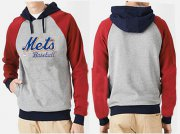 Wholesale Cheap New York Mets Pullover Hoodie Grey & Red