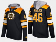 Wholesale Cheap Bruins #46 David Krejci Black Name And Number Hoodie