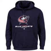 Wholesale Cheap Columbus Blue Jackets Majestic Big & Tall Critical Victory Pullover Hoodie Navy Blue