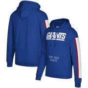Wholesale Cheap New York Giants Mitchell & Ness Three Stripe Pullover Hoodie Royal
