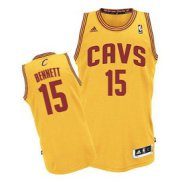 Wholesale Cheap Cleveland Cavaliers #15 Anthony Bennett Yellow Swingman Jersey