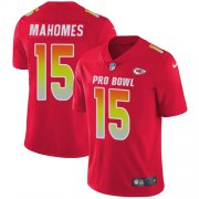 Wholesale Cheap Nike Chiefs #15 Patrick Mahomes Red Youth Stitched NFL Limited AFC 2019 Pro Bowl Jersey