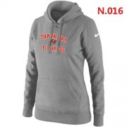 Wholesale Cheap Women's Nike Tampa Bay Buccaneers Heart & Soul Pullover Hoodie Light Grey