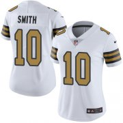 Wholesale Cheap Nike Saints #10 Tre'Quan Smith White Women's Stitched NFL Limited Rush Jersey