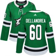 Cheap Adidas Stars #60 Ty Dellandrea Green Home Authentic Women's Stitched NHL Jersey