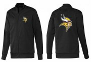 Wholesale Cheap NFL Minnesota Vikings Team Logo Jacket Black_1