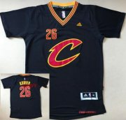 Wholesale Cheap Men's Cleveland Cavaliers #26 Kyle Korver New Black Short-Sleeved adidas Revolution 30 Swingman Stitched NBA Jersey