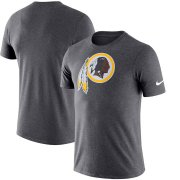 Wholesale Cheap Washington Redskins Nike Essential Logo Dri-FIT Cotton T-Shirt Heather Charcoal
