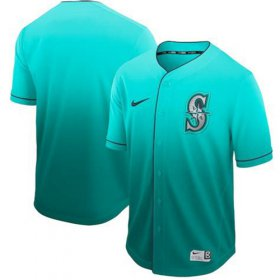 Wholesale Cheap Nike Mariners Blank Green Fade Authentic Stitched MLB Jersey
