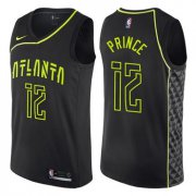 Wholesale Cheap Men's Atlanta Hawks #12 Authentic Taurean Prince Black Basketball City Edition Jersey