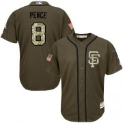 Wholesale Giants #8 Hunter Pence Green Salute to Service Stitched Youth Baseball Jersey