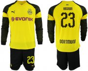 Wholesale Cheap Dortmund #23 Kagawa Home Long Sleeves Soccer Club Jersey
