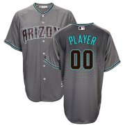 Wholesale Cheap Arizona Diamondbacks Majestic 2017 Cool Base Custom Jersey Gray Teal