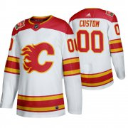 Wholesale Cheap Calgary Flames Custom Men's 2019-20 Heritage Classic Authentic White Stitched NHL Jersey
