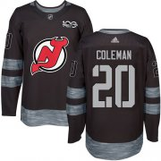 Wholesale Cheap Adidas Devils #20 Blake Coleman Black 1917-2017 100th Anniversary Stitched NHL Jersey