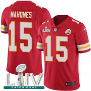 Wholesale Cheap Nike Chiefs #15 Patrick Mahomes Red Super Bowl LIV 2020 Team Color Youth Stitched NFL Vapor Untouchable Limited Jersey