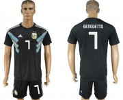 Wholesale Cheap Argentina #7 Benedetto Away Soccer Country Jersey