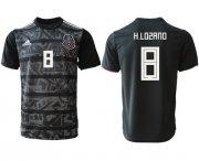 Wholesale Cheap Mexico #8 H.Lozano Black Soccer Country Jersey