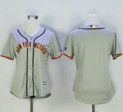 Wholesale Cheap Giants Blank Grey Women's Road Stitched MLB Jersey