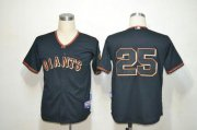 Wholesale Cheap Giants #25 Barry Bonds Black Fashion Stitched MLB Jersey