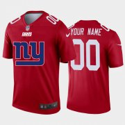 Wholesale Cheap New York Giants Custom Red Men's Nike Big Team Logo Vapor Limited NFL Jersey