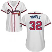 Wholesale Cheap Braves #32 Cole Hamels White Home Women's Stitched MLB Jersey