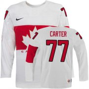 Wholesale Cheap Olympic 2014 CA. #77 Jeff Carter White Stitched NHL Jersey