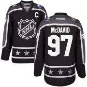Wholesale Cheap Oilers #97 Connor McDavid Black 2017 All-Star Pacific Division Stitched Youth NHL Jersey