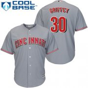 Wholesale Cheap Reds #30 Ken Griffey Grey Cool Base Stitched Youth MLB Jersey
