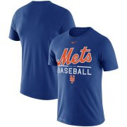 Wholesale Cheap New York Mets Nike Wordmark Practice Performance T-Shirt Royal