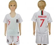 Wholesale Cheap Portugal #7 Ronaldo Away Kid Soccer Country Jersey