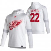 Wholesale Cheap Detroit Red Wings #22 Patrik Nemeth Adidas Reverse Retro Pullover Hoodie White