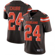 Wholesale Cheap Nike Browns #24 Nick Chubb Brown Team Color Men's Stitched NFL Vapor Untouchable Limited Jersey