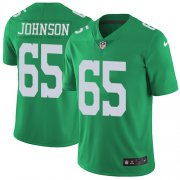Wholesale Cheap Nike Eagles #65 Lane Johnson Green Men's Stitched NFL Limited Rush Jersey