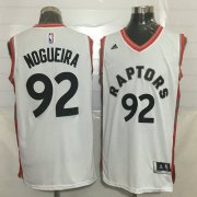 Wholesale Cheap Men's Toronto Raptors #92 Lucas Nogueira White New NBA Rev 30 Swingman Jersey