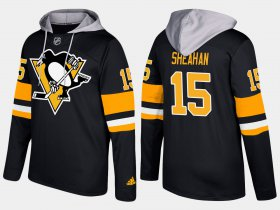 Wholesale Cheap Penguins #15 Riley Sheahan Black Name And Number Hoodie
