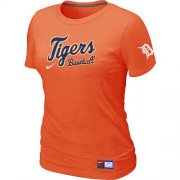 Wholesale Cheap Women's Detroit Tigers Nike Short Sleeve Practice MLB T-Shirt Orange