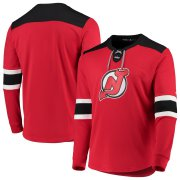 Wholesale Cheap New Jersey Devils adidas Platinum Long Sleeve Jersey T-Shirt Red