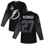 Cheap Adidas Lightning #27 Ryan McDonagh Black Alternate Authentic 2020 Stanley Cup Champions Stitched NHL Jersey