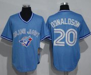 Wholesale Cheap Blue Jays #20 Josh Donaldson Light Blue Cooperstown Throwback Stitched MLB Jersey