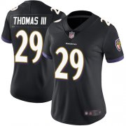 Wholesale Cheap Nike Ravens #29 Earl Thomas III Black Alternate Women's Stitched NFL Vapor Untouchable Limited Jersey