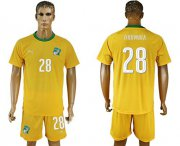 Wholesale Cheap Cote d'lvoire #28 Doumbia Home Soccer Country Jersey