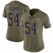 Wholesale Cheap Nike Rams #54 Leonard Floyd Olive Women's Stitched NFL Limited 2017 Salute To Service Jersey