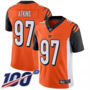 Wholesale Cheap Nike Bengals #97 Geno Atkins Orange Alternate Men's Stitched NFL 100th Season Vapor Limited Jersey