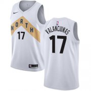 Wholesale Cheap Nike Raptors #17 Jonas Valanciunas White NBA Swingman City Edition Jersey