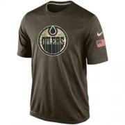Wholesale Cheap Men's Edmonton Oilers Salute To Service Nike Dri-FIT T-Shirt