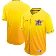 Wholesale Cheap Nike Pirates Blank Gold Fade Authentic Stitched MLB Jersey