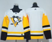 Wholesale Cheap Adidas Penguins Blank White Road Authentic Women's Stitched NHL Jersey