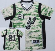 Wholesale Cheap San Antonio Spurs #21 Tim Duncan Revolution 30 Swingman 2014 New Camo Short-Sleeved Jersey